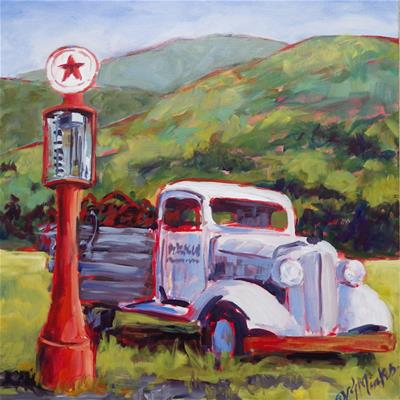 Sawmill Group Texaco Truck watercolor