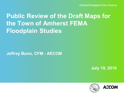 AECOM Floodplain Delineation Presentation, July 19, 2016