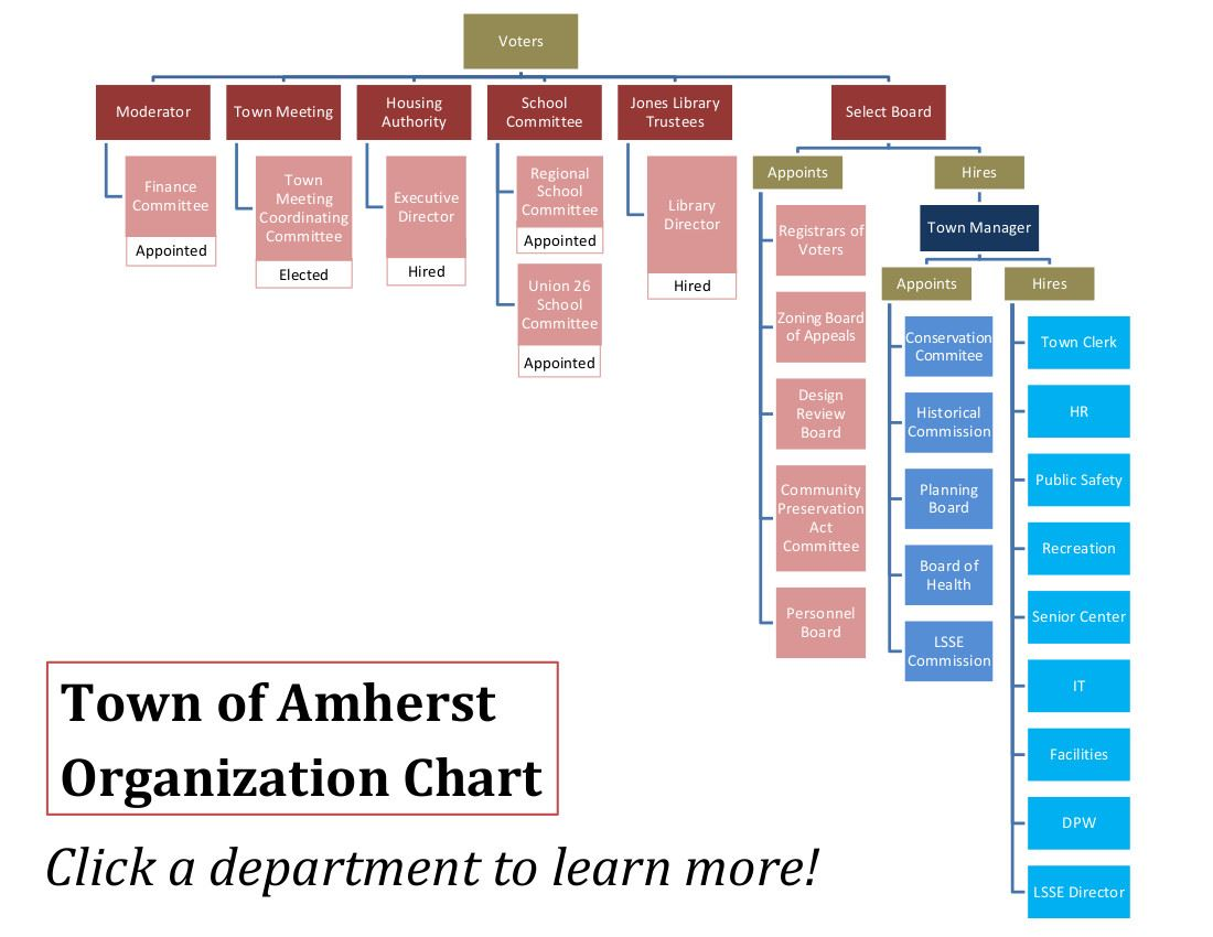 Charter Commission-Amherst Organization Chart