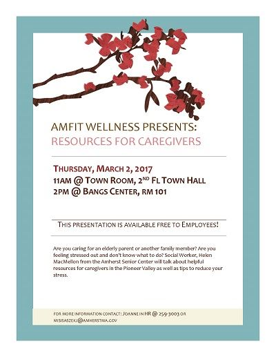 Amfit wellness presents Resources for Caregivers