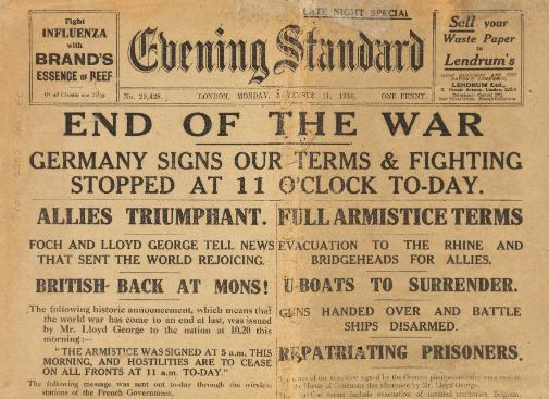 end of WWI