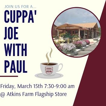 Cuppa' Joe with Paul Event March 2019 News