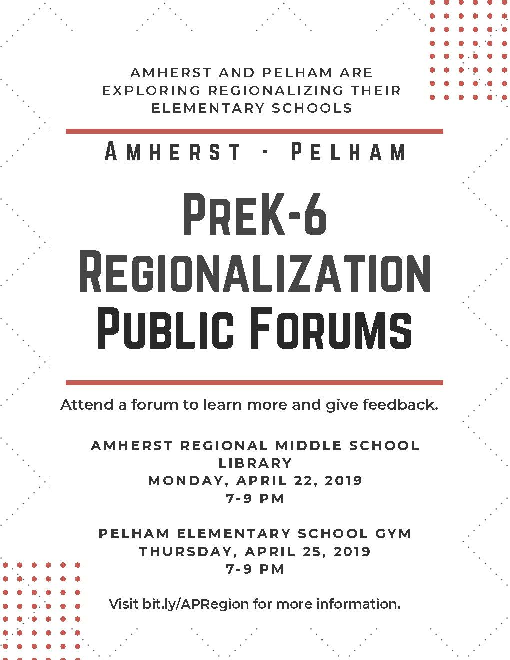 Amherst Pelham Forum Flyer