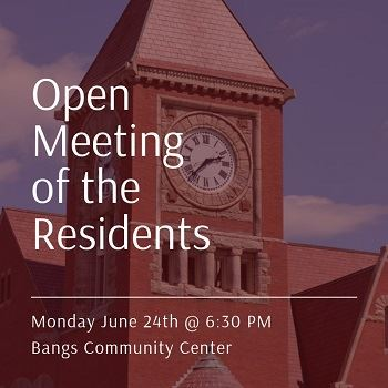 Open Meeting of the Residents_News