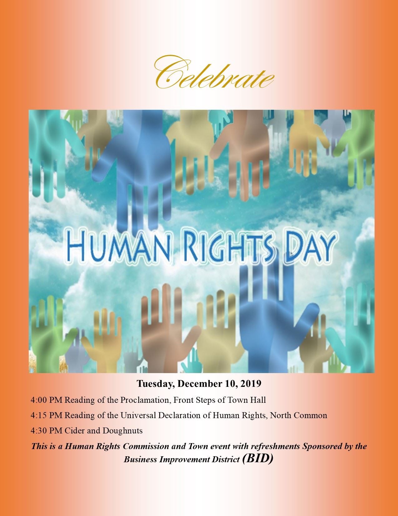 Celebrate Human Rights Day Flyer 11.21.19