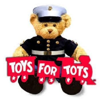 Toys for Tots Logo with Teddy Bear