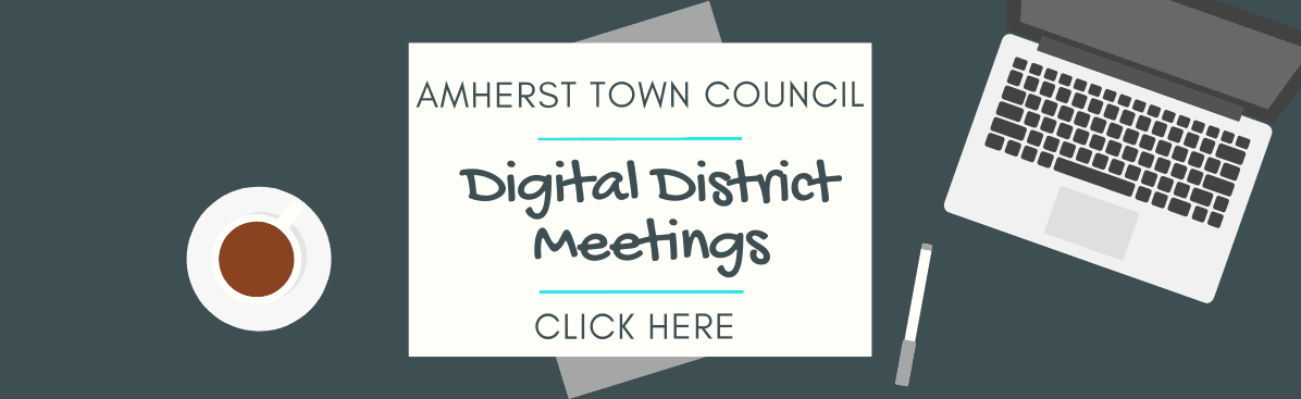 Town Council Digital District Meetings Banner