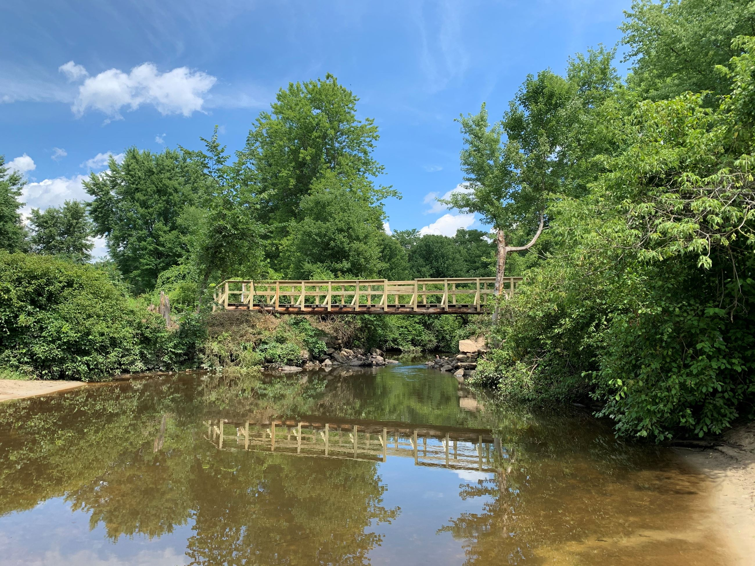 Wentworth Farm Conservation Area Bridge over Fort River