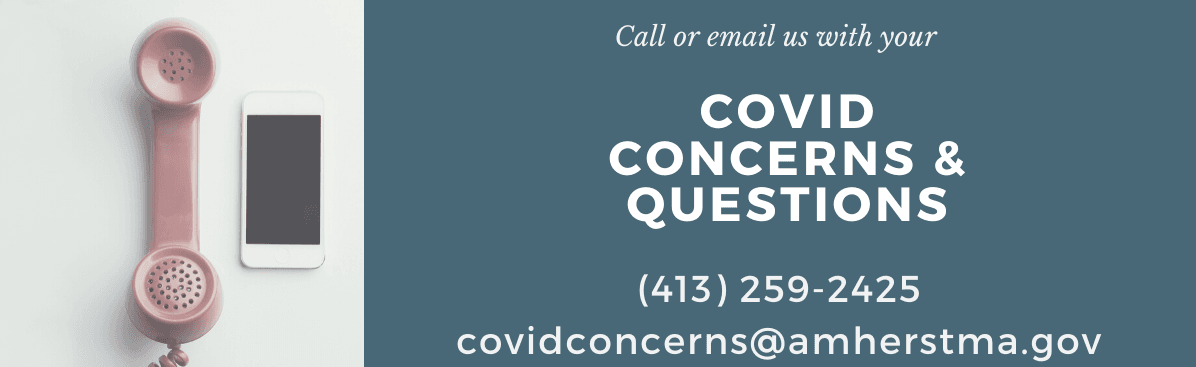banner covid concerns phone line and email address